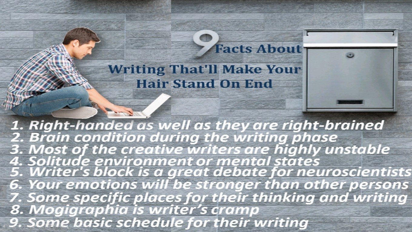 9 Facts About Writing That Will Make Your Hair Stand On End